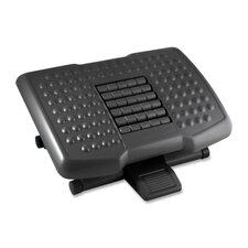 "Footrest w/ Rollers, Adjustable, 18""x13""x4"", Black"