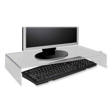 """Acrylic Monitor Stand, 21-1/4""""x11-1/2""""x3-3/4"""", Clear"""