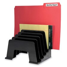 "Organizer Sorter, Five Compartmentss, 8""x5-3/4""x6"", Black"