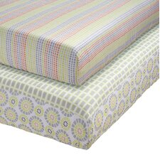 Pattern Play Fitted Crib Sheets (Set of 2)