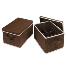 2 Piece Folding Storage Basket Set