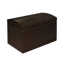 Hardwood Barrel Top Toy Chest in Espresso