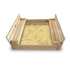 Cedar 4' Rectangular Sandbox with Cover