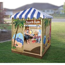 Beach Bum Cabana 3 ft. Square Sandbox with Cover