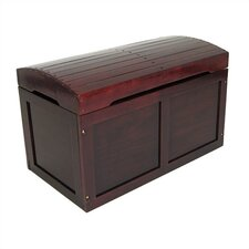 Hardwood Barrel Top Toy Chest in Cherry