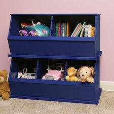 Two Bin Storage Cubby in Blue
