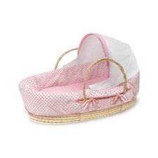 Moses Basket with Fabric Canopy