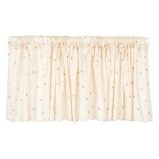 "Madison Dot Embroidery 92"" Curtain Valance"