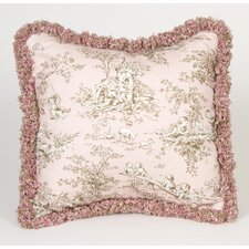 Madison Toile with Fringe Throw Pillow