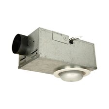 Recessed Bathroom Fan with Light in White