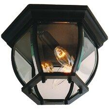 Bent Glass 3 Light Flush Mount