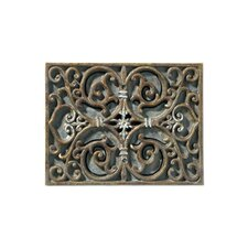 Artisan Carved Scroll Work Design Door Chime in Hand Painted Renaissance Crackle