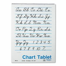 Chart Tablet, Unruled, 25 Sheets/Pad