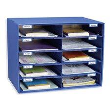 Mail Box - 10 Mail Slots Blue