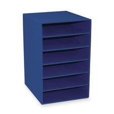 """6-Shelf Organizer, 13-1/2""""x12""""x17-3/4"""", Blue"""