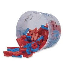 "Magnetic Plastic Letters,Upper Case,1-1/2"",108 Ct.,Blue/Red"