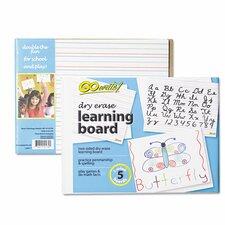 Dry Erase Learning Reversible Lap Board Whiteboard, 1' H x 1' W