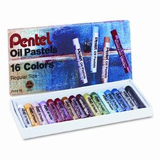 Oil Pastel Set with Carrying Case, 16/Set (Set of 3)