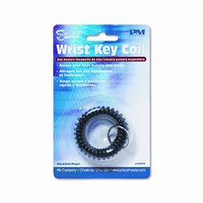 Plastic Coil Key Chain, Black (Set of 3)