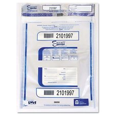 Triple Protection Tamper-Evident Deposit Bags, 15 X 20, 50/Pack