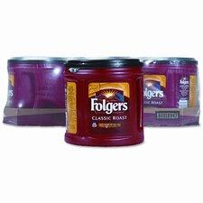 Folgers Ground Coffee, Classic Roast Regular, 6/Carton