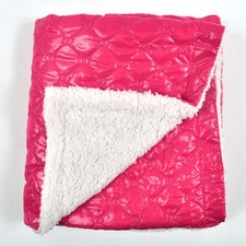 Quilted Nylon Puffer Sherpa Backing Baby Blanket