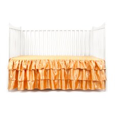 Ruffled Satin Crib Skirt