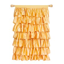 Ruffled Satin Single Curtain Panel
