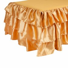 Ruffled Satin Bed Skirt