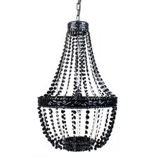 Beaded 1 Light Crystal Chandelier