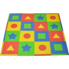 16 Piece Tadpoles First Shapes Playmat Set