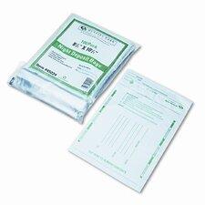 Night Deposit Bags w/Tear-Off Receipt, 8.5 x 10-1/2, Opaque, 100 Bags per Pack