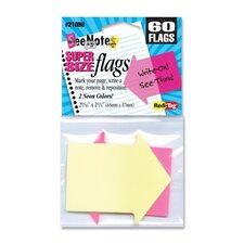 "Arrow Flags, Supersize, 2-9/16""x2-1/4"", 60 per Pack, Neon Yellow/Pink"