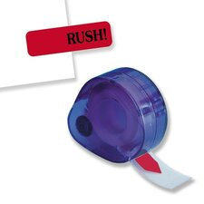 "Rush Message Tag, Jumbo, 9/16""x2"", Red"