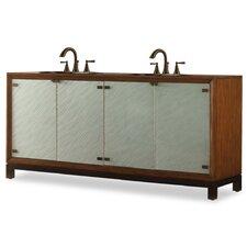 """Designer Series 47"""" Double Isla Chest Bathroom Vanity Set"""