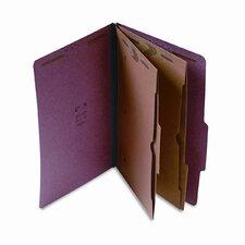 Expanding Pressboard Folder w/Pockets, Legal, 6-Section, Red