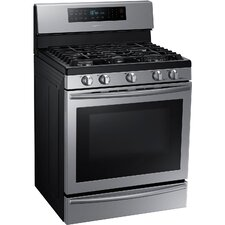 5.8 Cu. Ft. Gas Convection Range in Stainless Steel