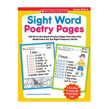 Sight Word Poetry Pages Book