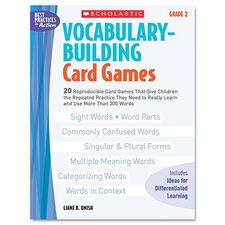 Vocabulary Building Card Games, Grade Two Book