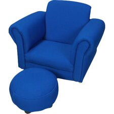 Upholstered Kids Club Chair and Ottoman