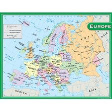 Europe Map Chart 17x22 (Set of 3)
