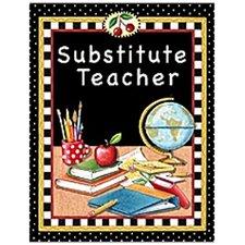 Substitute Teacher Pocket Folder Tc Lesson Planner (Set of 3)
