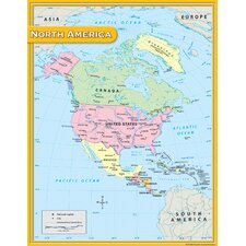 North America Map Chart 17x22 (Set of 3)