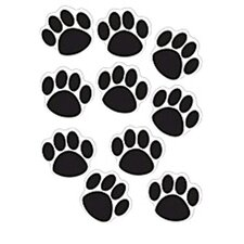 Accents Black Paw Prints Accent (Set of 2)