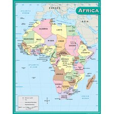 Africa Map Chart 17x22 (Set of 3)