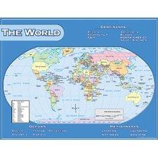 World Map Chart 17x22 (Set of 3)