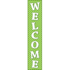 Lime Polka Dots Welcome Posters (Set of 2)