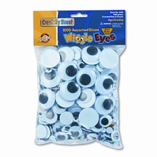 Wiggle Eyes Classroom Pack, 1,000 Pieces per Pack