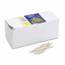 Flat Wood Toothpicks, 2500/Pack (Set of 3)
