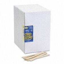 Natural Wood Craft Sticks, 4 1/2 X 3/8, 1000/Box